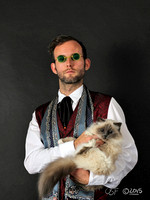 Dorian Grey (with cat)